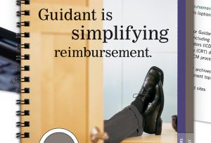 "image showing partial cover of Guidant ""Guidepoint"" brochure; graphic design by Carolyn Porter of Porterfolio, Inc."