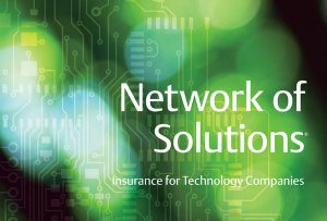"Cover of ""Network of Solutions"" brochure by Travelers Insurance; graphic design by Carolyn Porter of Porterfolio, Inc."