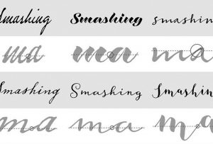Screen grab from article on designing a connected cursive script font; graphic design and writing by Carolyn Porter of Porterfolio, Inc.